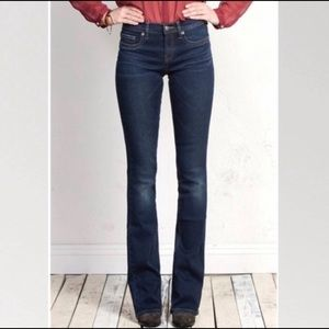 Henry & Belle micro mini flare dark denim jeans 27